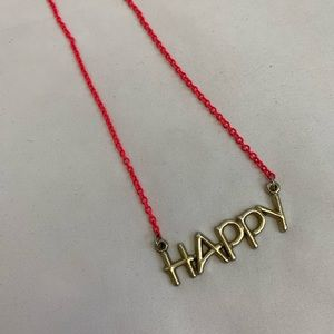 Jewelry - Pink Happy Necklace